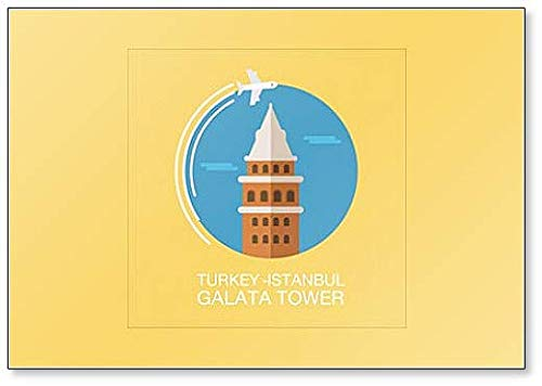 - Turkey Galata Tower Illustration Classic Fridge Magnet