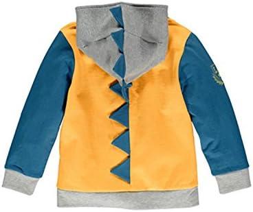 Little Boys Dinosaur Hoodies Cotton Zipper Jackets Kids Sport Sweatshirts for Toddler Boy Clothes 1-6 T