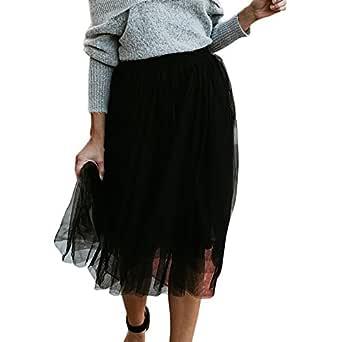 MOMOXI Faldas para Mujer, Falda para Mujer de Moda de Cintura Alta ...