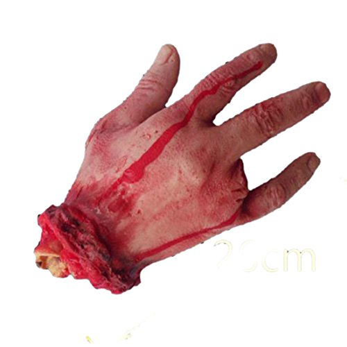 4 Fingers Scary Severed Cut Off Bloody Fake Hand Halloween Masquerade Party Prop -