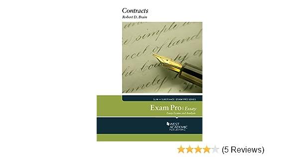 Brains Exam Pro On Contracts Essay  Kindle Edition By Robert  Brains Exam Pro On Contracts Essay  Kindle Edition By Robert Brain  Professional  Technical Kindle Ebooks  Amazoncom