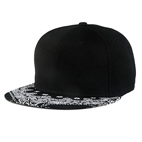 Caps,Toraway Unisex Black Snapback Bboy Hiphop Hat Adjustable Baseball Cap