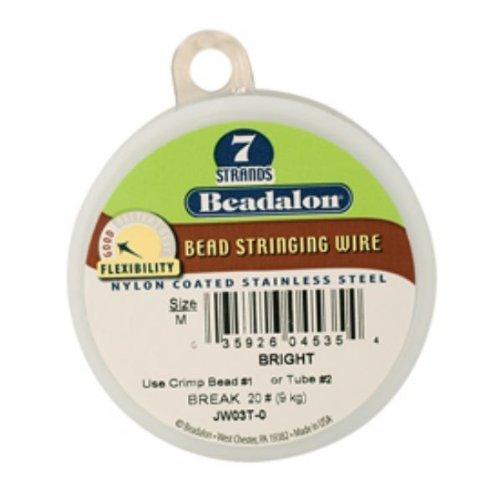 Beadalon 7 Bright .015in 100ft - BDC-301.15 (Bright Beadalon 7 Strand Beading)