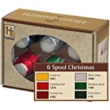 Hemingworth Embroidery Thread 6 Spool Christmas