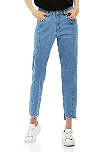 Blue Denim Loose Fit Jeans - 7