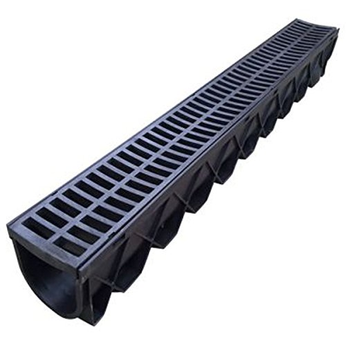 Polylok residential trench drain grate black grate for Residential trench drain systems