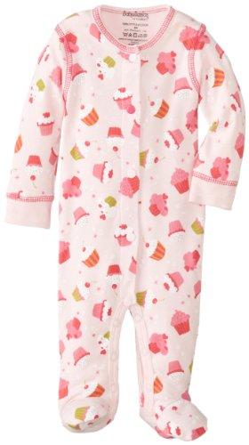 Kushies Baby-Girls Newborn Sleeper, Pink Cupcake, 6 Months