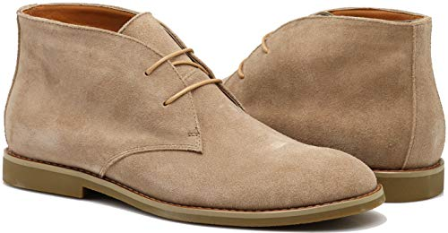 CO02 Men's Chukka Ankle Boots Dress Fashion Oxfords Suede Leather Boots (9.5 D(M) US, Camel) ()