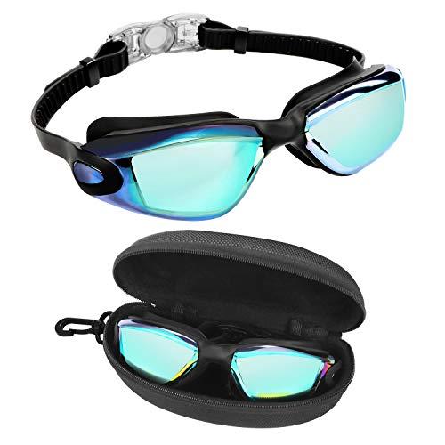 418Mrti6fTL. SS500 GAFAS NATACION HERMÉTICAS: Estas gafas de silicona están hechas de silicona suave de doble capa para gran comodidad y evitar que goteen. Con el fuerte sello de goma gruesa, protegerán sus ojos del cloro y otros químicos presentes en las piscinas. Sus ojos también estarán protegidos contra el polvo, suciedad y bacterias, esto evitará la irritación y los ojos rojos. Estas gafas de nadar se pueden usar para bucear, triatlones y nado sincronizado. LENTES CON PROTECCIÓN UV: Estas coloridas gafas para natación tienen coloridas lentes de policarbonato. Son resistentes, no se romperán y tienen protección UV. Con esta protección evitará cualquier daño por los rayos del sol y también reducen la cantidad de luz que entra, esto ayuda a minimizar el resplandor, para mejorar la experiencia cuando nade en exteriores o bajo las brillantes luces de la piscina. CORREA AJUSTABLE DE SILICONA: Las gafas para bucear tienen una correa que se puede ajustar fácilmente para hacerla más grande o pequeña y ajustarse a la mayoría de los tamaños de cabezas. Estas gafas son aptas para hombres y mujeres adultos, así como también adolescentes. El botón de liberación rápida en la parte trasera ayuda a liberarlas y retirarlas fácilmente. Estas gafas de piscina son perfectas para profesionales, así como nadadores recreativos.