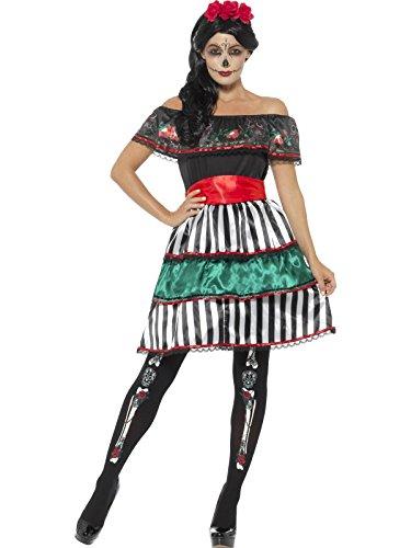 Sugar Doll Costume (Smiffy's Women's Day of the Dead Senorita Doll Costume, Multi, X-Large)