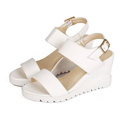 American Soft Muffin Buttom Girls 1TO9 Buckle Material White Sandals qxF5OwgaH