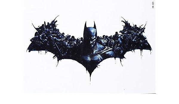 Fake Tattoo Batman Tattoo Negro hb404 Arm Tattoo: Amazon.es: Belleza