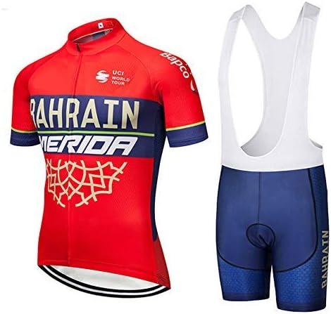 Maillot Cyclisme Homme avec Cuissard /à Bretelles rembourr/é Gel TOPBIKEB Ensemble Cyclisme Manches Courtes