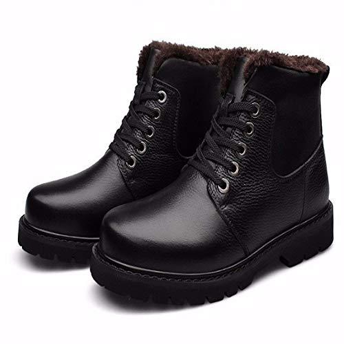 Para Natural Hombre Zapatos Pu Invierno Felpa Nieve Ropa Calzado Fmwlst Cálido Botas De Súper wCI6cTWAqT