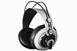 AKG SET OF 2 HEADPHONES - K240 BLACK & WHITE / M220 PRO STYLIST PROFESSIONAL LARGE DIAPHRAGM DJ SEMI-OPEN HIGH DEFINITION OVER-EAR STUDIO HEADPHONES