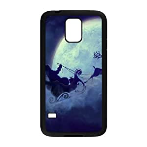 Magic Christmas1 L funda Samsung Galaxy S5 caja funda del teléfono celular del teléfono celular negro cubierta de la caja funda EEECBCAAJ16709