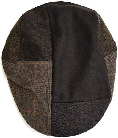 [クリサンドラ] ハンチング帽 メンズ ブランド 秋冬 ウール ジャガード ハンチング 帽 フリーサイズ カジュアル ゴルフ ブランド 大きいサイズ 帽子 クリサンドラ