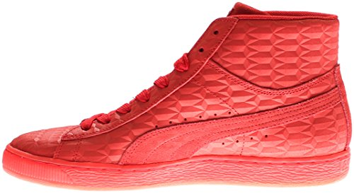 Red Puma Risk Fashion Iced High Suede Men's Mid Sneaker White Me rqrzZ