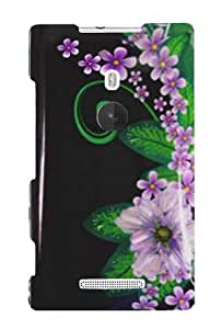 Graphic Case for Nokia Lumia 925 - Green Flower (Package include a HandHelditems Sketch Stylus Pen)