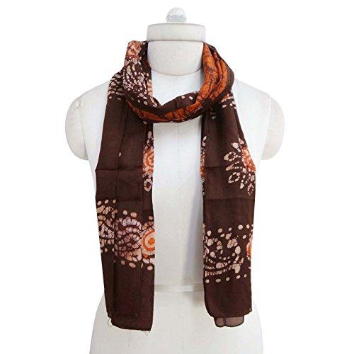Bandana pulgadas verano moda Seda de Sacrves Bufanda marr bufandas larga 70 UBnxqz0