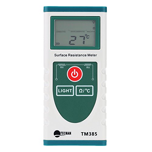 (GXG-1987 Handheld Surface Resistance Meter with LCD Display Electrostatic Static Electricity Tester Temperature Resistance Measurement …)