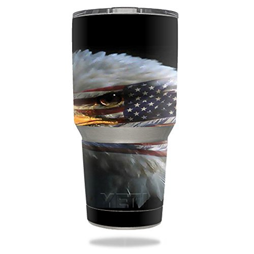 (MightySkins Protective Vinyl Skin Decal for YETI 30 oz Rambler Tumbler wrap Cover Sticker Skins Eagle Eye)