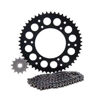 - Primary Drive HEAVY DUTY Chain and Sprocket Kit - 420 MC Chain - Black Rear Aluminum Sprocket - Front Steel Sprocket - Fits: Kawasaki KX80 KX85 1998-2019 - Stock or Custom Sizes