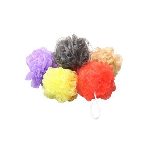 10× baño ducha cuerpo Puff Esponja Malla Bola --- Color al azar WayGo