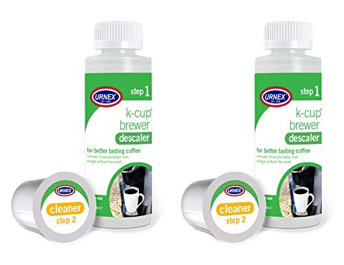 Urnex K-Cup Machine Descaling Solution and Cleaner Kit - 2 Pack - Professional Coffee Machine Cleaner and Descaler for Keurig (Keurig 2-0 Won T Recognize K Cups)