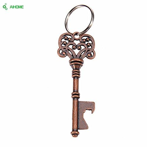 Acero inoxidable diseño llave llavero abridor de botella de ...