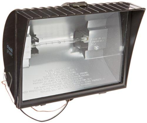 Curve Hood Decorative (RAB Lighting QF300F Quartz Curve Floodlight, Aluminum, 300W Power, 6100 Lumens, 120V, Bronze)