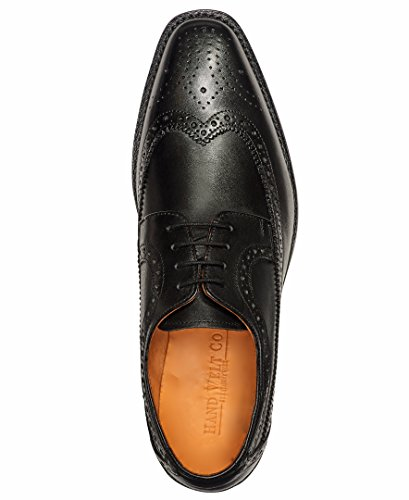 Anthony Veer Men's Regan Oxford Wingtip Leather Shoes In Goodyear Welted Construction (14 D(M) US, Black) by Anthony Veer (Image #3)