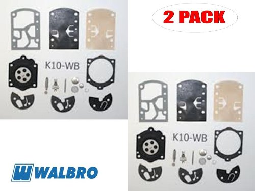 Walbro K10-WB Carb Repair Kit Tohatsu Multi Purpose Engine 2 Pack