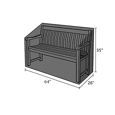 Remarkable Patio Bench Cover Silvotek 3 Seater Garden Bench Cover 64 L Lamtechconsult Wood Chair Design Ideas Lamtechconsultcom