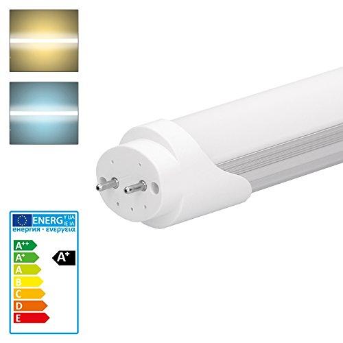 ECD Germany Leuchtstoffröhre 150 cm - 24W 240V T8 G13 SMD LED Leiste kaltweiß 2018 Lumen - keine Anlaufzeit und drehbare Rohrenden - für Küche und Bad [Energieklasse A+]