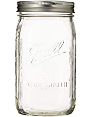 Ball Quart Mason Jar Wide Mouth, 11.2 x 15.2 x 6.8 inches, Set of 12, (67000)