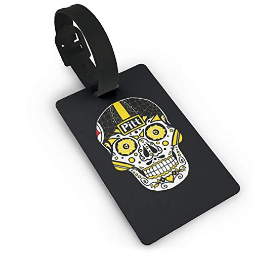 - Pittsburgh Sugar Skull Unisex Christmas Luggage Tags, Bag Tag Travel ID Labels Tag For Baggage Suitcases Bags
