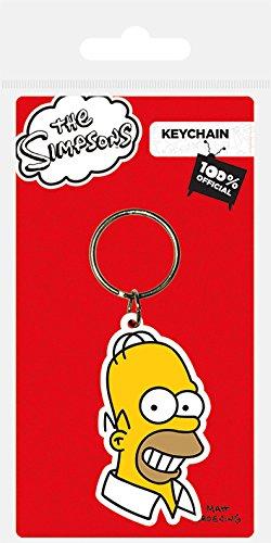 El llavero de PVC de la cara de Homer Simpsonhttps://amzn.to/2RRDQQl