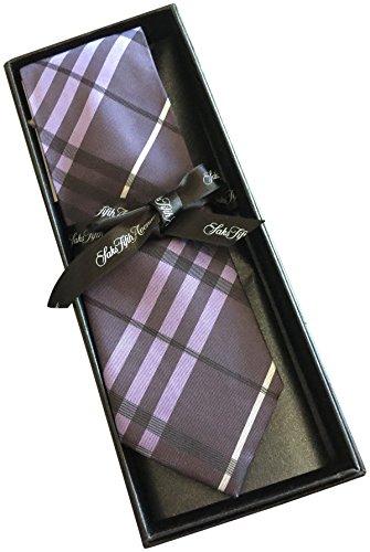 saks-fifth-avenue-striped-100-silk-mens-tie-3-wide-purple-checkered