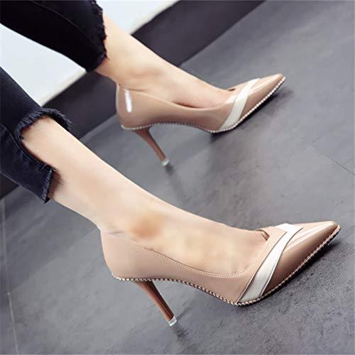 Altos Que Elegantes B de los Moda Banquete Europea Tacones Empareja del Temperamento del El del de YMFIE los Partido Color Zapatos la Elegante xYCv4CPw6q