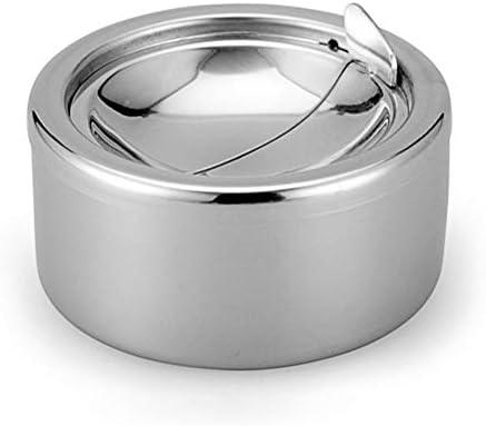 ステンレス製灰皿 とともに 蓋、 ポータブル 円形 防風 テーブル デコレーション 灰皿、 に適し 家/外/棒/オフィス/カフェ
