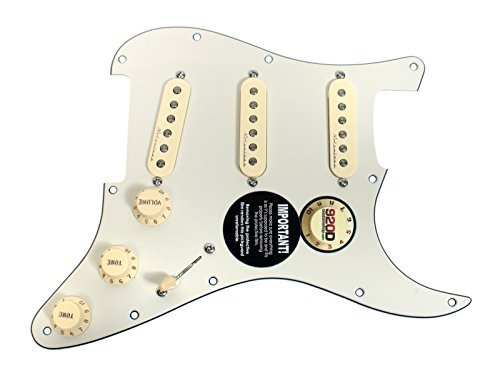 Jeff Beck Noiseless Pickups - Fender Jeff Beck Hot Noiseless Loaded Pickguard Parchment / Aged White