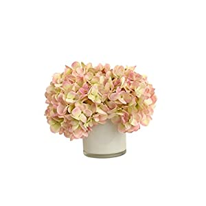 RG Style Silk Hydrangeas in Decorative Vase Artificial Floral Arrangement 1