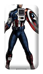 Blue charismatic fantastic iphone tpu cases for Samsung Galaxy s5 of Avengers Captain America in Fashion E-Mall