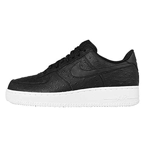 Nike Men's Air Force 1 07 LV8 Basketball Shoe Black/Black-White (9.5)