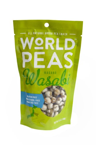 World Peas Nagano Hot Wasabi Flavored Peas, 5.3 Ounce (Pack of 6) by World Peas