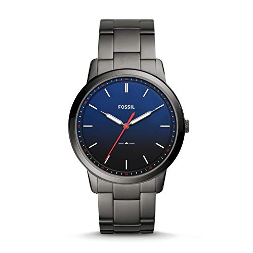 Fossil Men's 'The Minimalist 3H' Quartz Stainless Steel Casual Watch, Color:Gray (Model: FS5377)