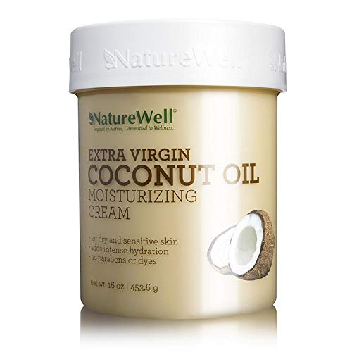 NATURE WELL Extra Virgin Coconut Oil Moisturizing Cream, 16 oz. (Miracle Moisturizing Moisturizer)