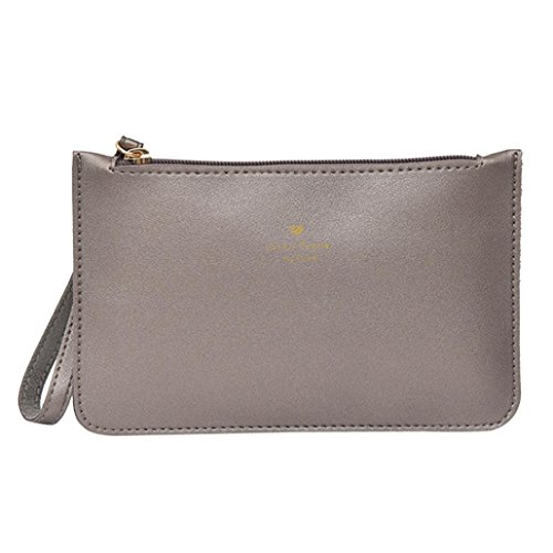 Phone Bag GINELO Fashion Leather Gray Coin wallet Bags Women's Bag Messenger Handbag wCnYqxwv0