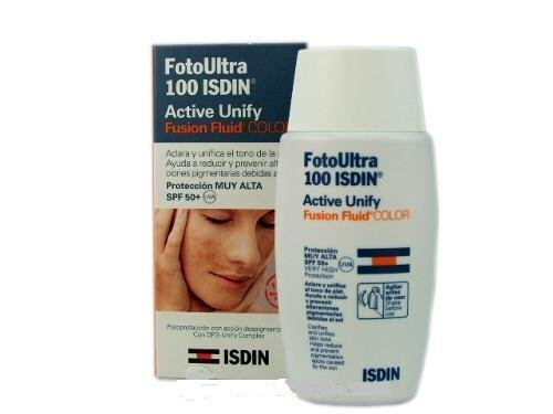 FOTO ULTRA ISDIN ULTRA FUSION FLUID TINTED COLOR spf 100+ 50 ml ACTIVE UNIFY MINESKIN TREATMENT